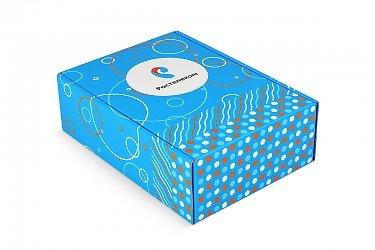 коробка портфель с ручкой для корпоративного подарка