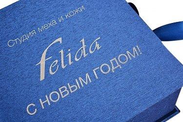 новогодняя упаковка подарочная с логотипом компании