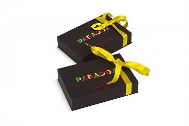 Подарочная коробка крышка-дно для пластиковой карты