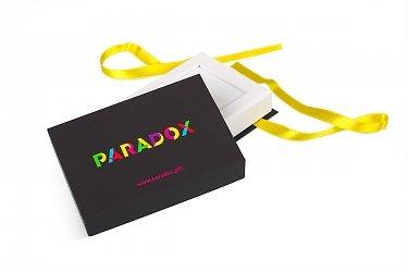 коробка крышка дно с лентами для подарочной карты