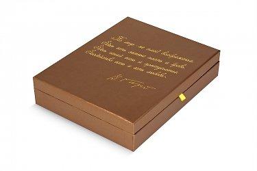футляр для книг, печать на коробках золотом