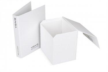 коробка и папка для образцов продукции для выставки