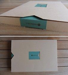 Упаковка-крест с 5ю карманами для портфолио\годового отчета.