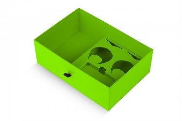заказать коробки с ручками и ложементом