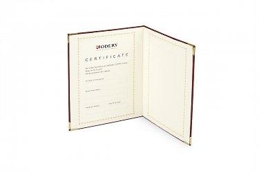 эксклюзивная упаковка для ювелирных украшений с сертификатом