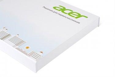 кашированная упаковка для флешек и набора карт с ложементом