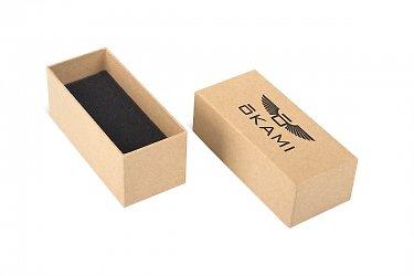 подарочная ювелирная упаковка с черным изолоновым ложементом