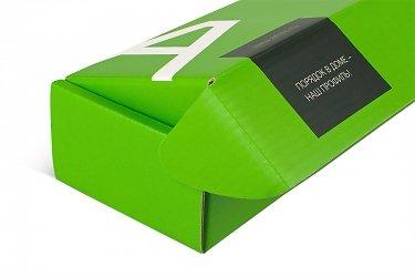 картонная упаковка с логотипом компании