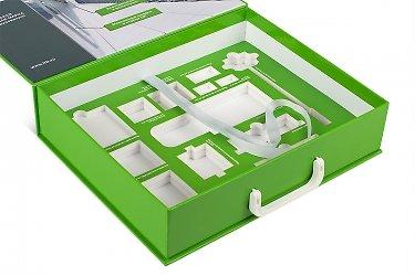 коробка портфель с ручками