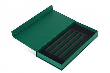 коробка и папка для образцов продукции с изолоновым ложементом