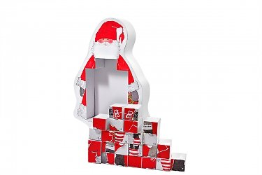 упаковка подарочная для конфет - коробка-пазл дед мороз