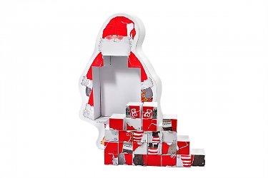 подарочная упаковка для конфет - кашированная коробка дед мороз