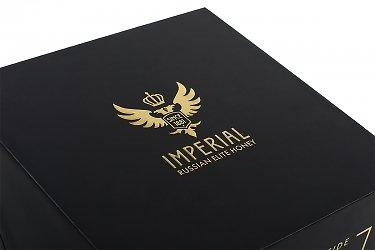 подарочная упаковка - коробка для меда с тиснением