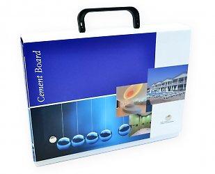 Кашированная портфель-папка для выставки. Презентер для выставки