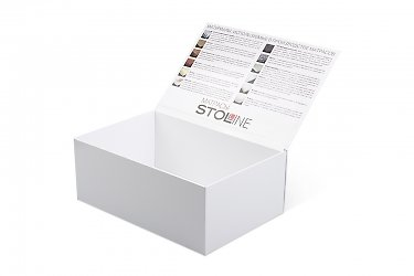 каталог образцов внутри кашированной коробки
