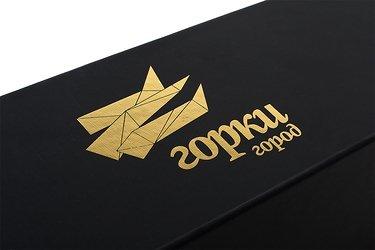 упаковка подарочная с золотым тиснением