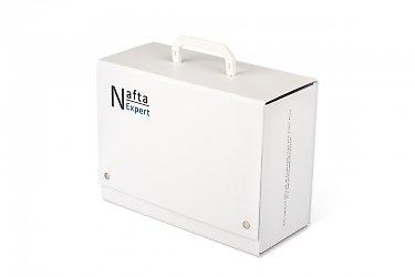 коробка-чемодан или портфель с подвесной ручкой