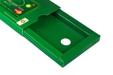 оригинальная упаковка для пластиковых карт с картонным холдером