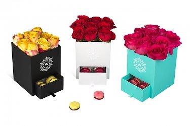круглые и квадратные коробки для цветов