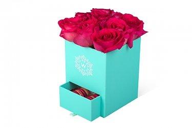 круглые квадратные коробки для цветов с выдвижными ящиками для конфет