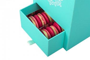круглые коробки для цветов с ящиком для пирожных