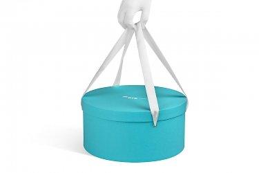круглые шляпные коробки с ручками лентами