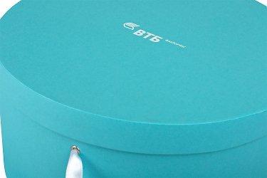 производство круглых коробок с логотипом