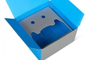 картонная упаковка на заказ картонной полкой