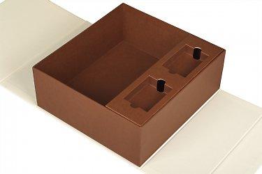 коробки для корпоративных подарков с ложементом и лентами