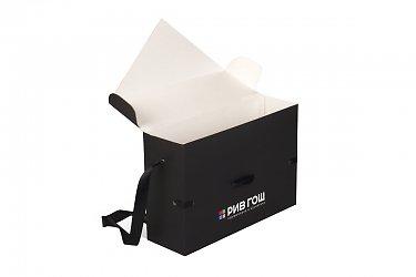 производство подарочных коробок с логотипом большим тирадом