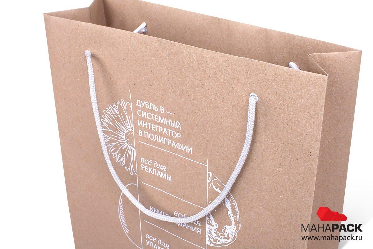 заказать упаковку - крафт пакет с нанесением и печатью