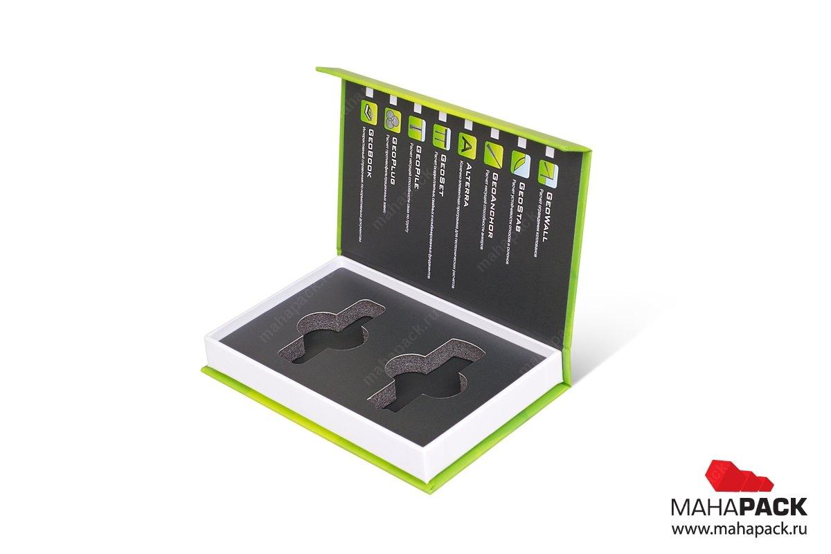 упаковка для флешки - кашированная коробка