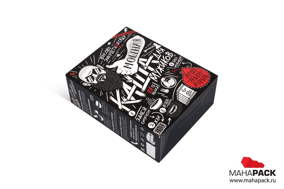 картонная упаковка с логотипом для продуктов питания