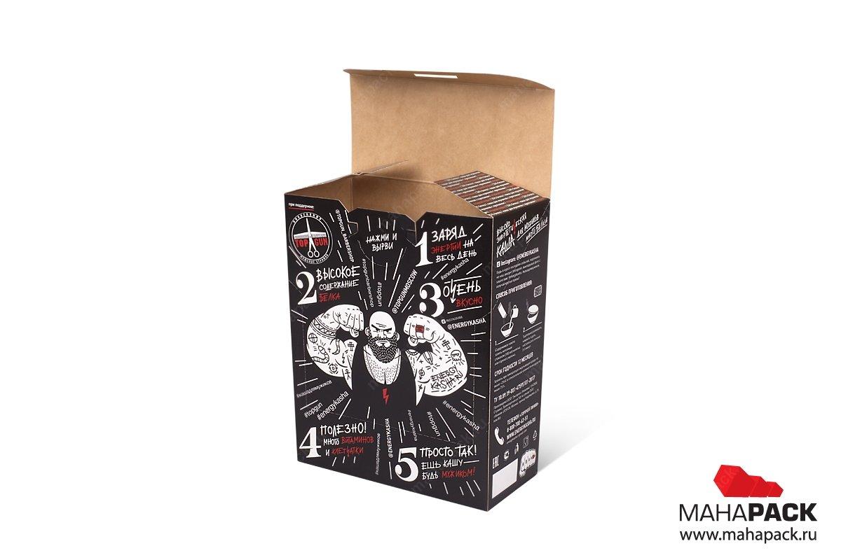 картонная упаковка с логотипом на заказ