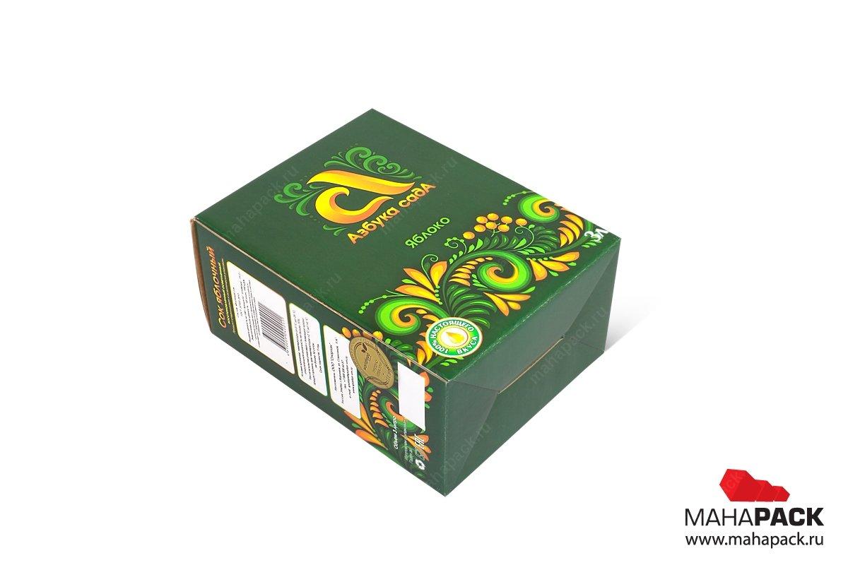 картонная упаковка с логотипом для еды