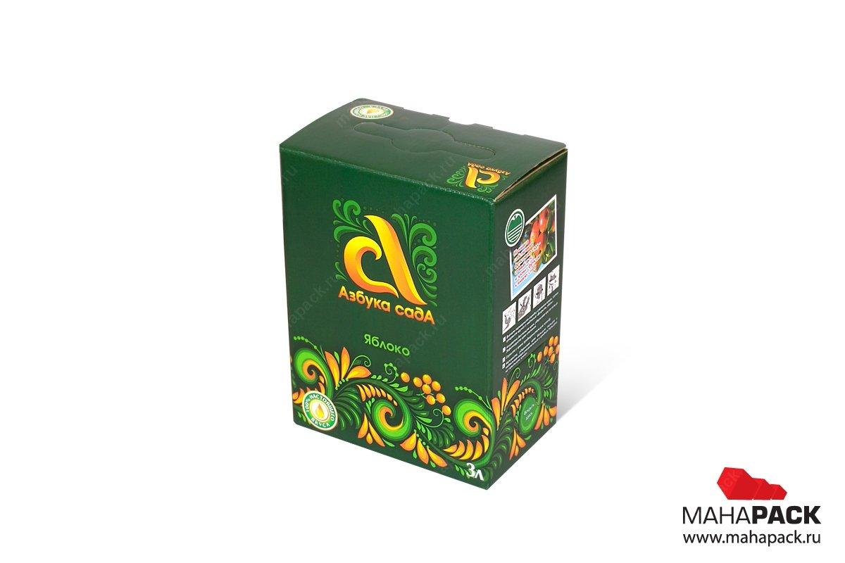 картонная упаковка с логотипом для магазина продуктов