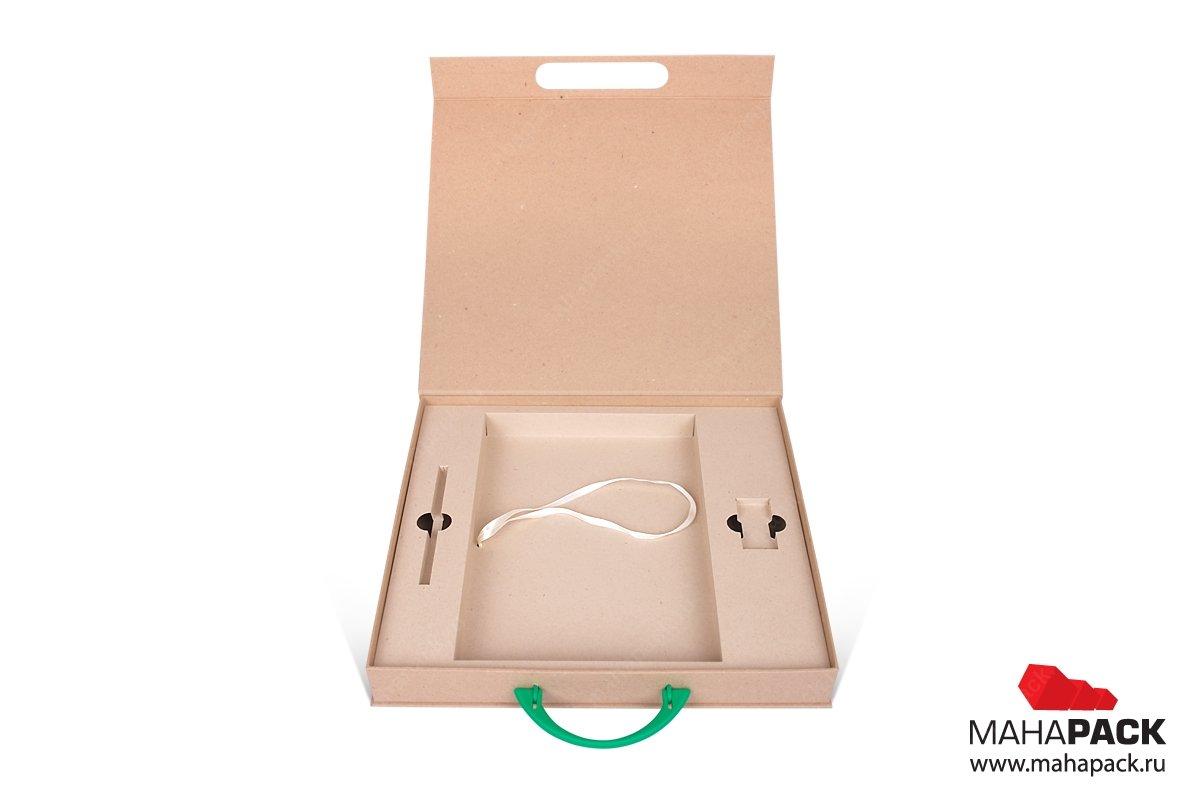 коробка портфель с картонным ложементом