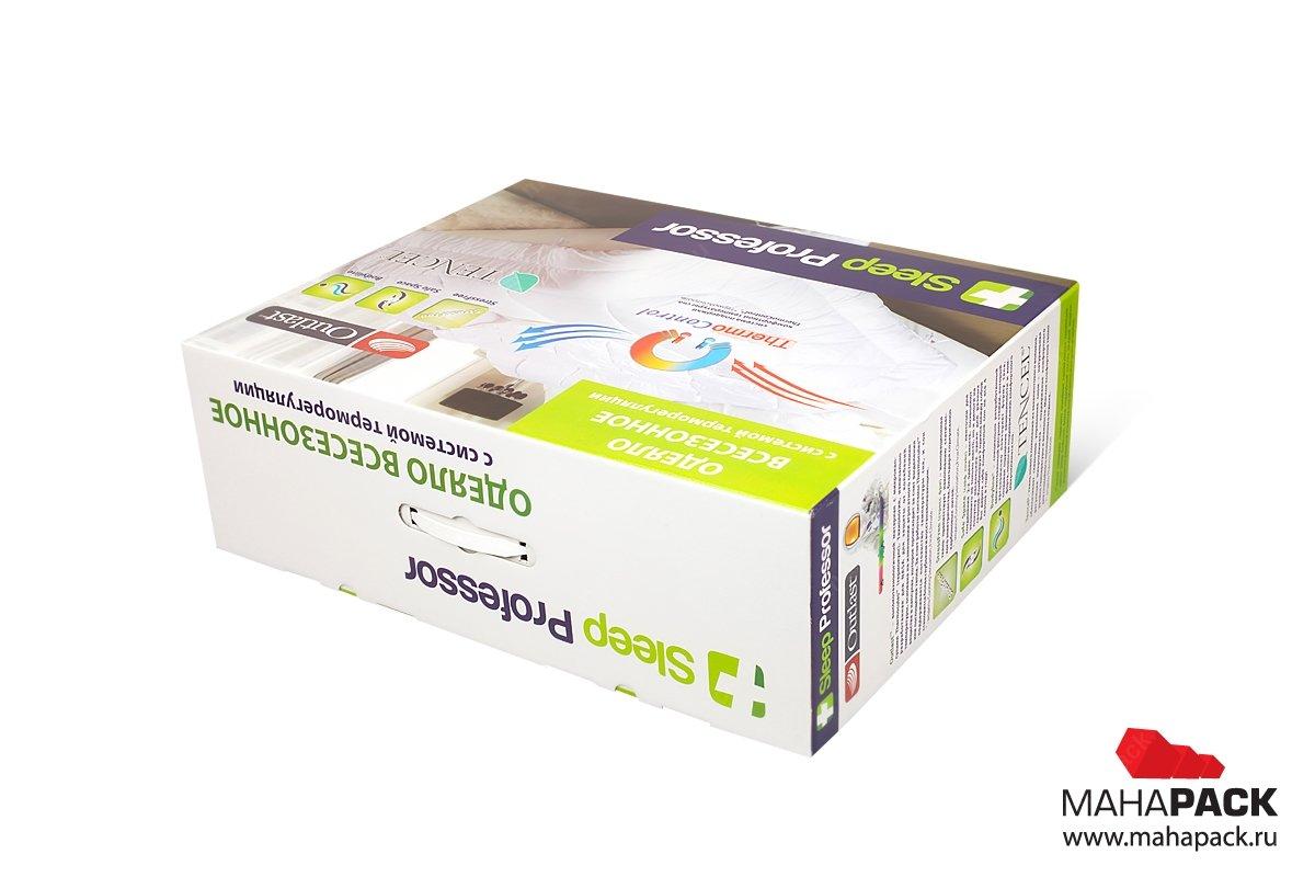 картонная упаковка с логотипом для одеяла