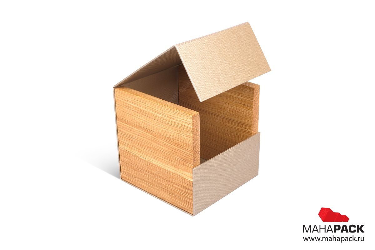 производство подарочных коробок с деревянными вставками