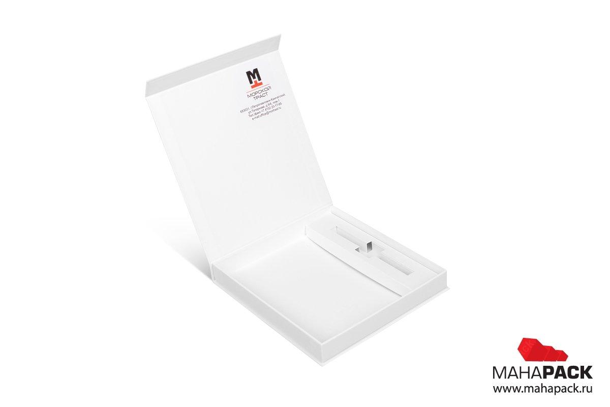 бизнес упаковка с ложементом и логотип