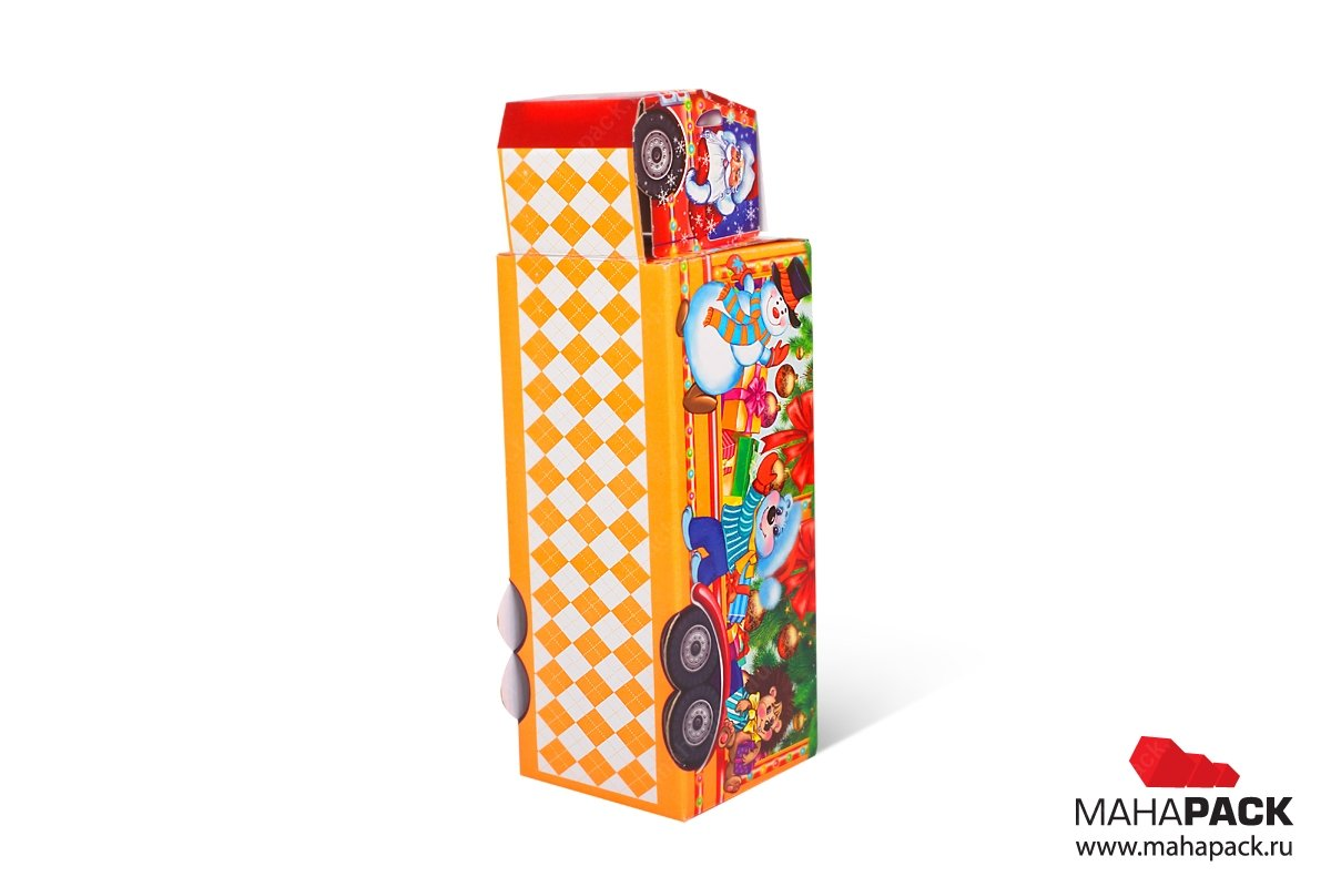 эксклюзивная подарочная упаковка из МГК для конфет самосборная