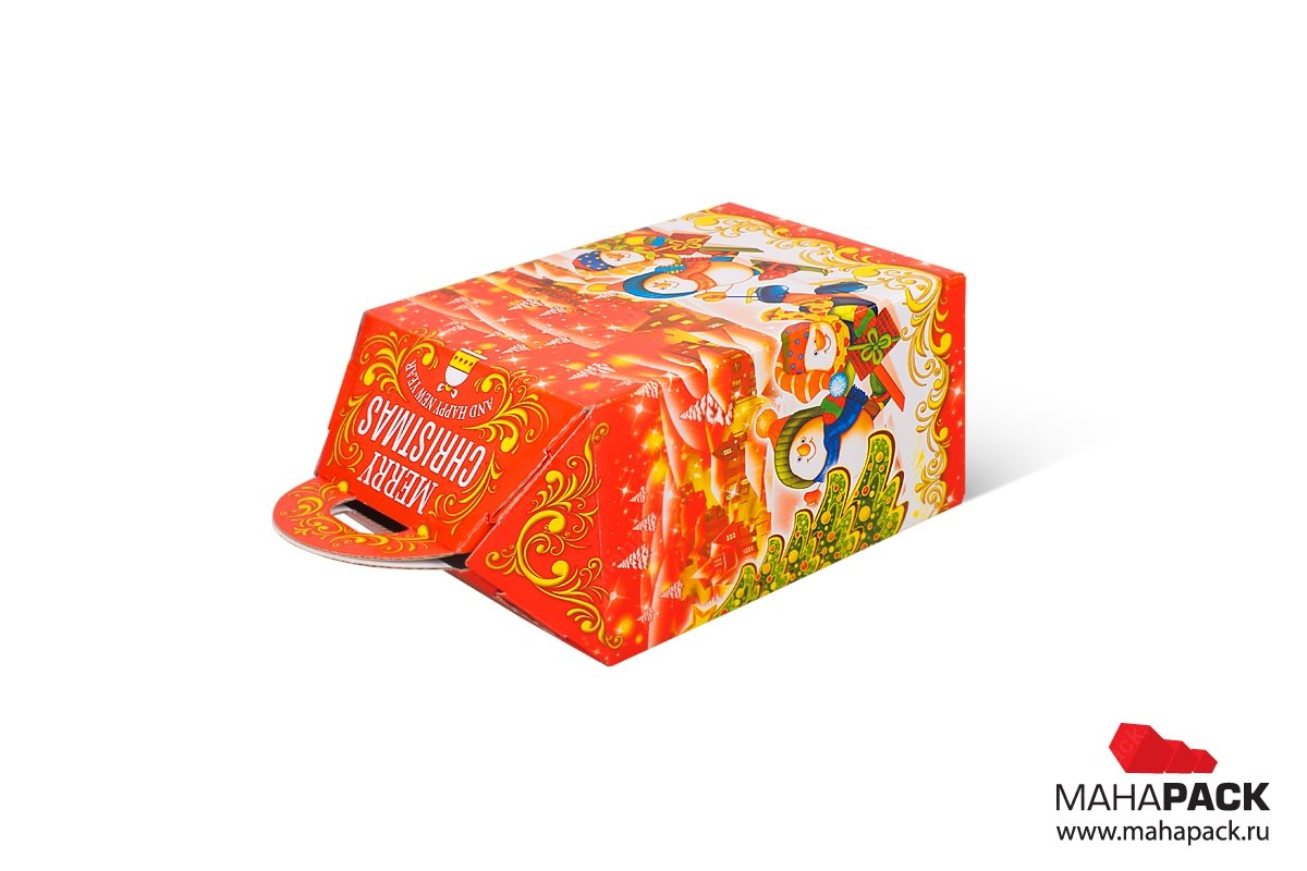 коробка самосборная для конфет в подарок