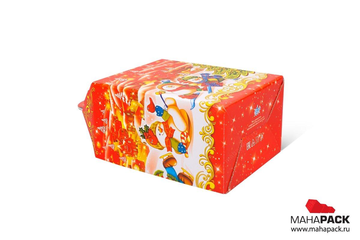 коробка самосборная для сладостей