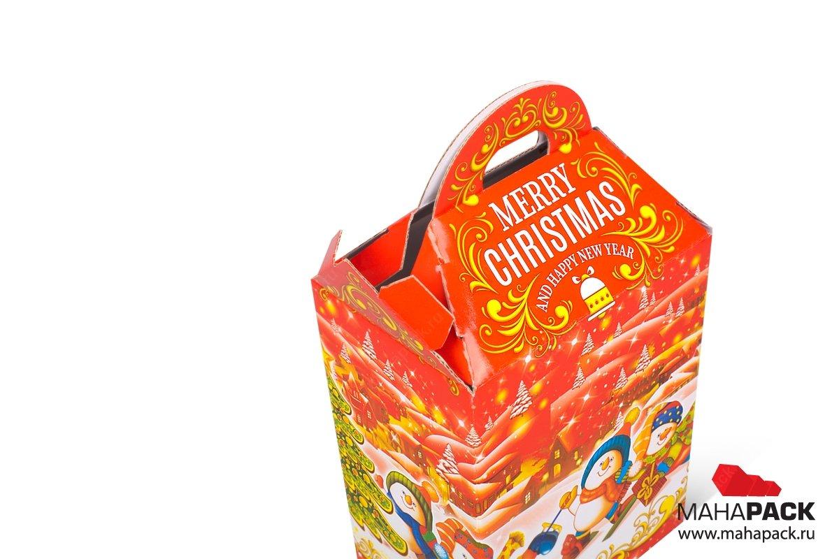 коробка самосборная из МГК для сладостей
