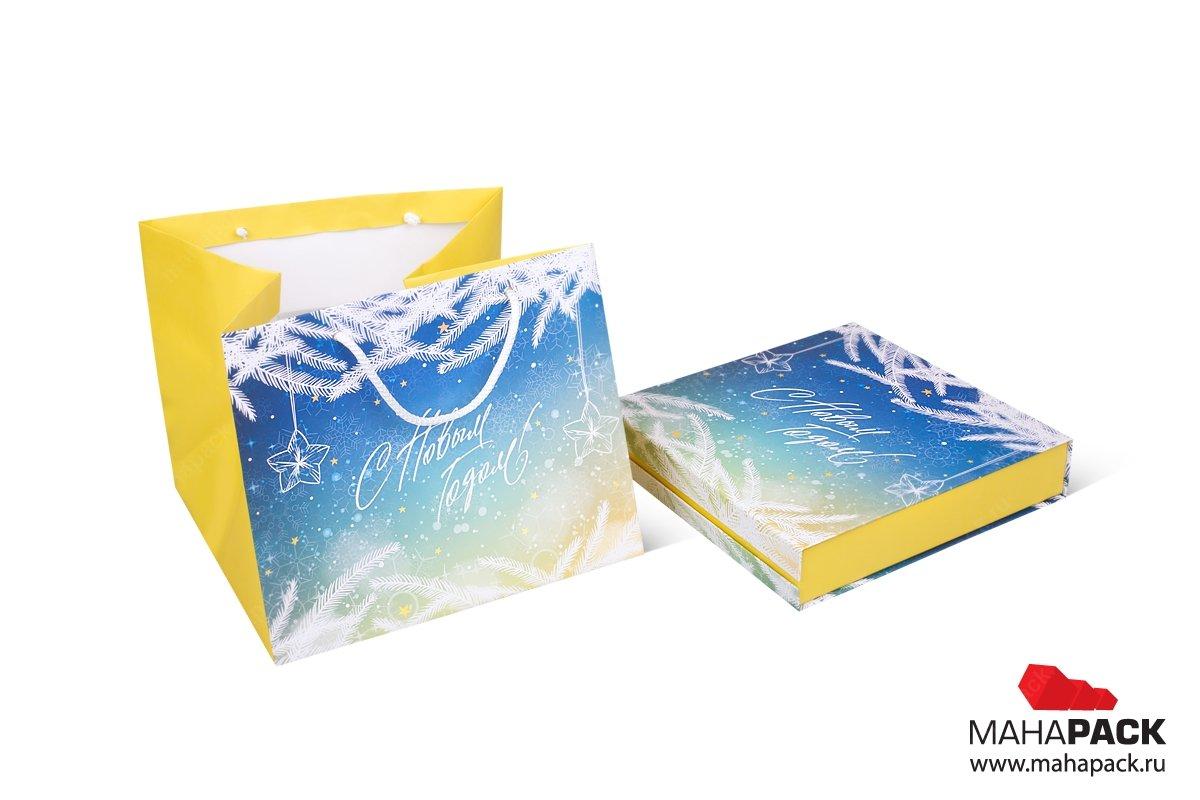 эксклюзивная упаковка пакет и коробка для подарков на новый год