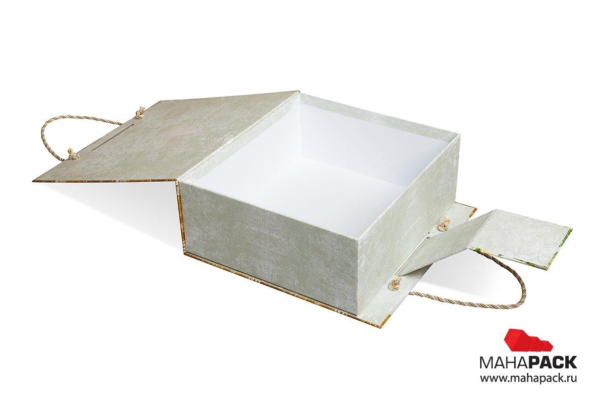 Коробка с ручкой и клапаном на магните