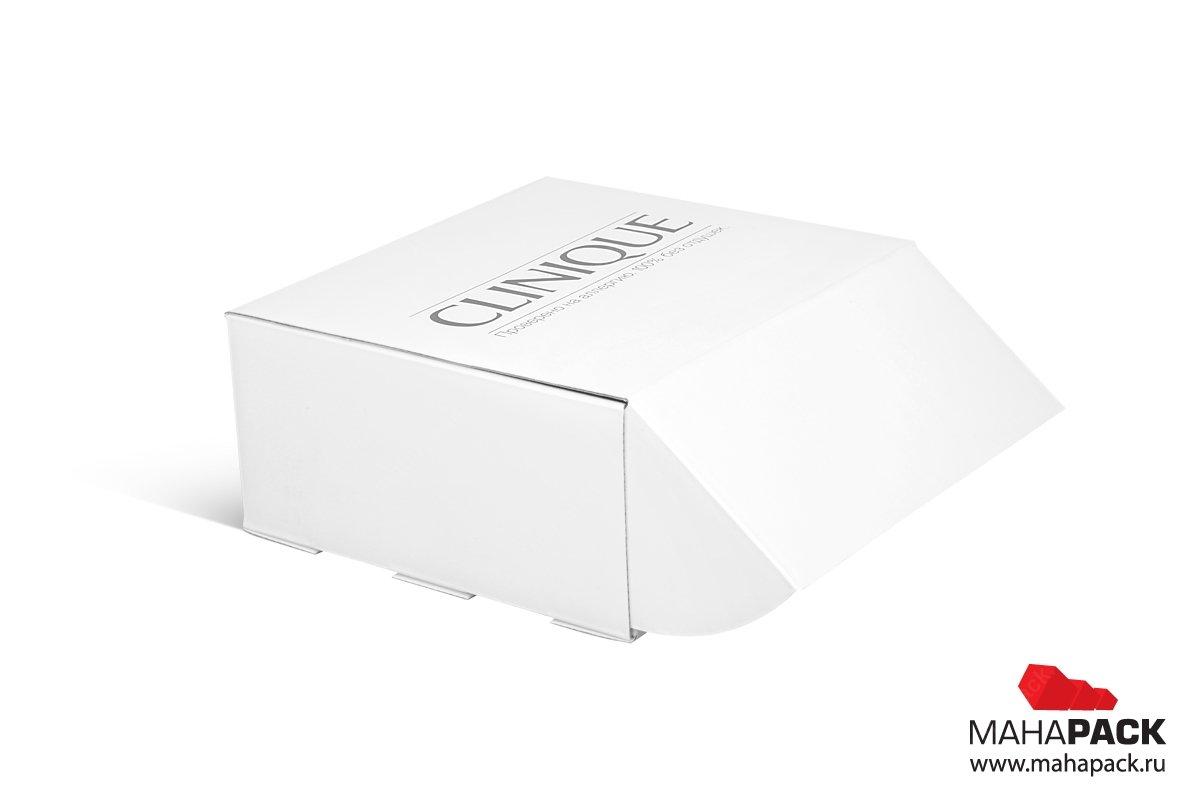 коробка самолет самосборная с ушками