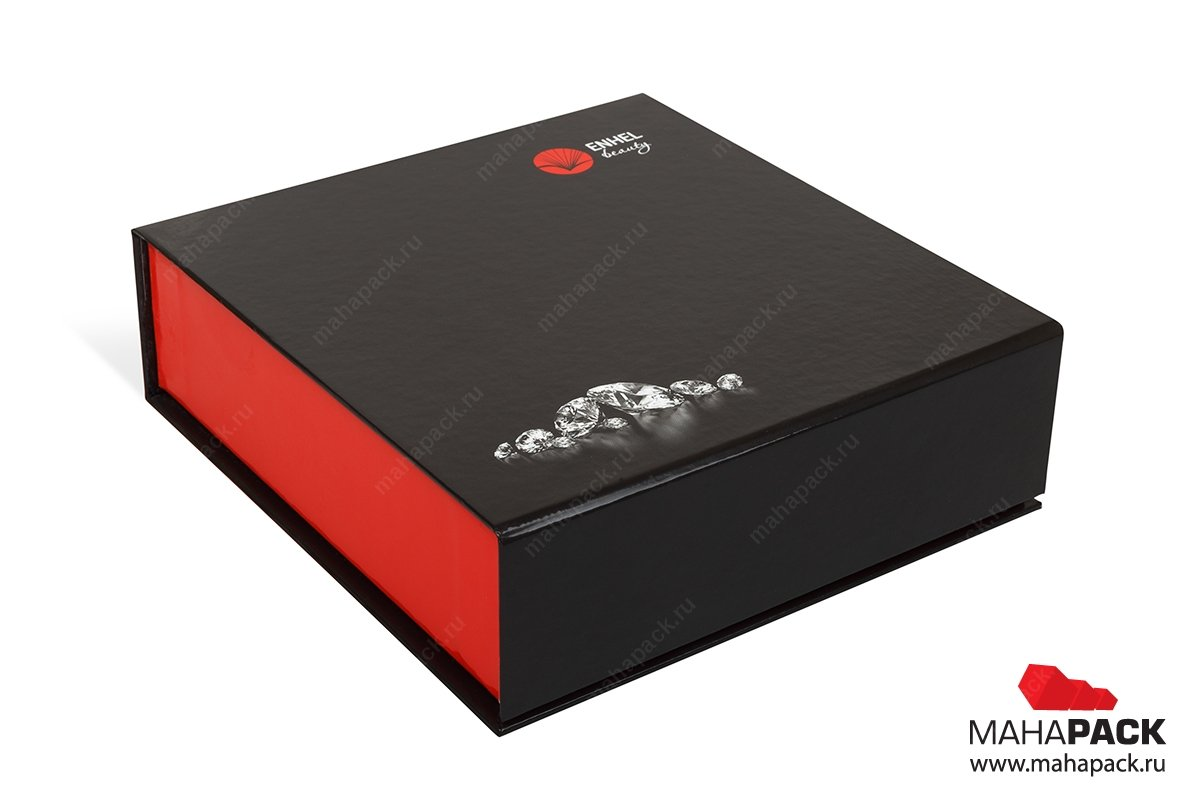 ювелирная упаковка с клапаном на магните