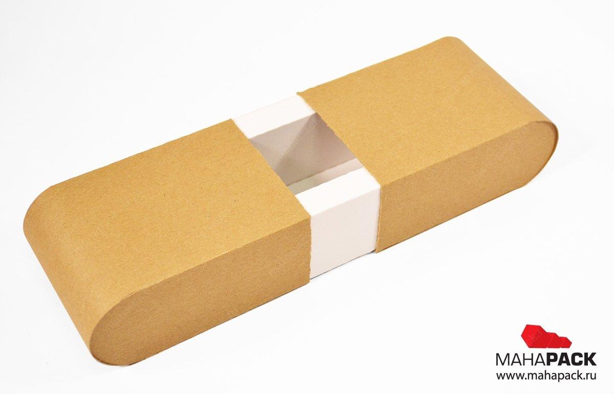 Фирменная упаковка из крафт-картона с закругленными торцами