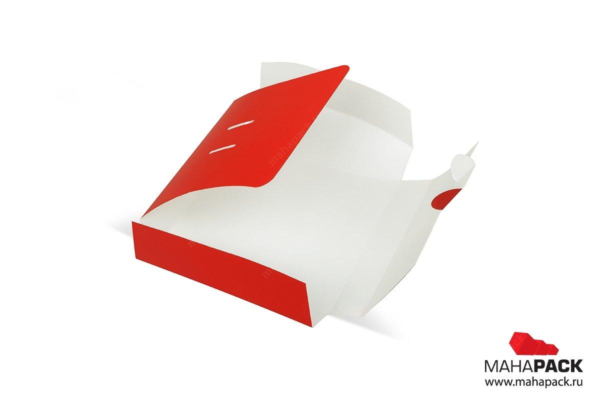 самосборная картонная упаковка с логотипом
